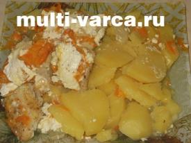 Щука в мультиварке с картошкой