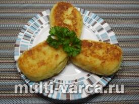 Зразы картофельные с фаршем на сковороде