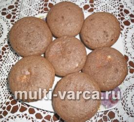 Шоколадные кексы с творогом в мультиварке
