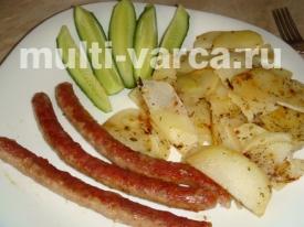 Колбаски-гриль в мультиварке с картошкой