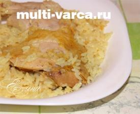 Курица с рисом в мультиварке