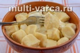 Ленивые вареники с картошкой и творогом в мультиварке