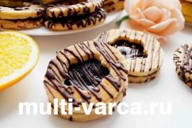 Домашнее печенье в мультиварке поларис с вареньем