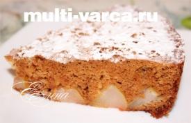 Сладкий пирог с грушами в мультиварке