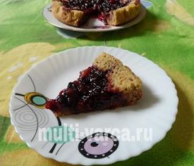 Шоколадный вишневый пирог в мультиварке