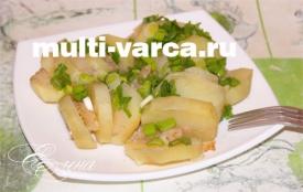 Вкусная картошка с салом в мультиварке