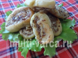 Шаньги с мясом в мультиварке