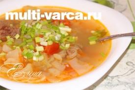 Рецепт щей из свежей капусты в мультиварке с фото