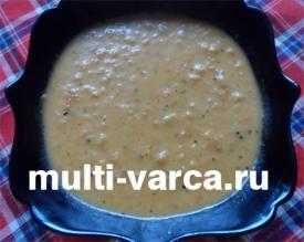 Овощной суп-пюре с капустой и помидорами в мультиварке