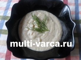 Грибной суп пюре из картофеля в мультиварке
