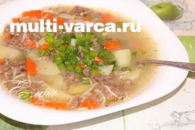 Вермишелевый суп в мультиварке с фаршем