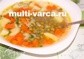 Суп из консервированного горошка в мультиварке