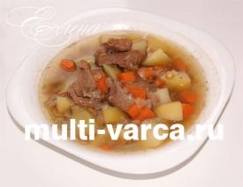 Чечевичный суп с мясом в мультиварке