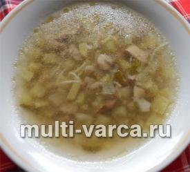 Грибной суп с лапшой в мультиварке