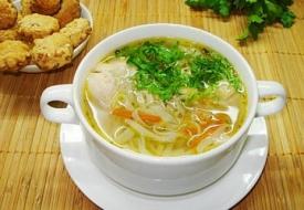 Макаронный суп с индейкой в мультиварке