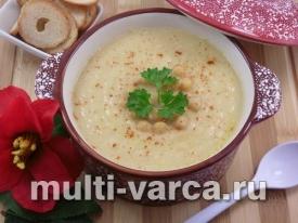 Суп-пюре из цветной капусты и нута в мультиварке