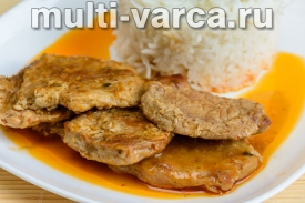 Свинина в кокосовом соусе по-тайски