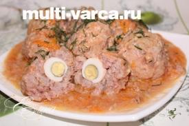 Тефтели с рисом в мультиварке, в соусе