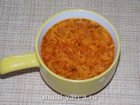 Томатный суп с сосисками
