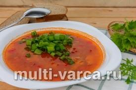 Томатный суп с тунцом и фасолью в мультиварке