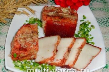 приготовить сало в луковой шелухе в мультиварке