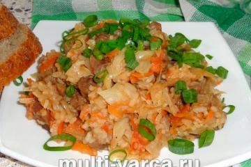 Бигус с рисом в мультиварке