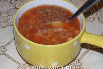 Постный суп из нута в мультиварке