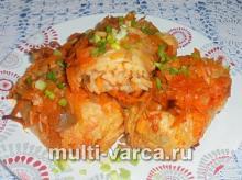 Постные голубцы в мультиварке с рисом и овощами