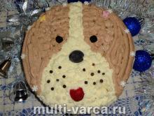 Бисквитный торт на Новый год