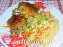 Утка с рисом в мультиварке