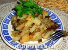 Картошка с баклажанами в мультиварке