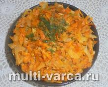 Морковь тушеная в мультиварке с луком и сметаной