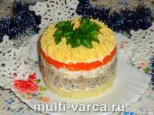 Салат Мимоза, классический рецепт с консервами