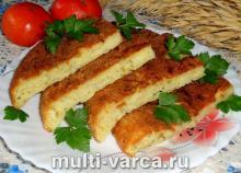 Запеканка из кабачков и картошки в мультиварке