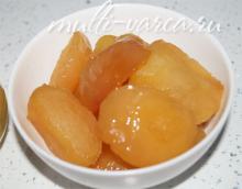 Запеченные яблоки с медом в мультиварке