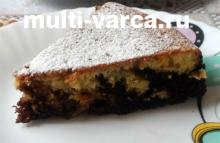 Шоколадно-апельсиновый кекс в мультиварке