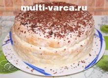 Как приготовить бисквитный торт в мультиварке