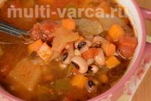 Суп с белой фасолью в мультиварке