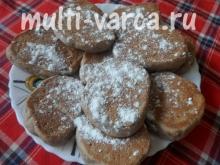 Шоколадное печенье с бананами в мультиварке