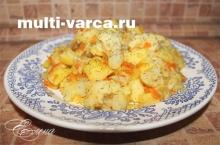тушеная цветная капуста с картофелем в мультиварке