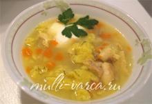 Вкусный рыбный суп с клёцками из манки в мультиварке