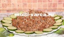 рецепт гречки с фаршем в мультиварке