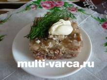 Рецепт холодца в мультиварке из говядины и свинины