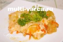 Запеченные кабачки с сыром в мультиварке