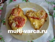 Пицца с капустой в мультиварке