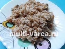 Гречневая каша с рисом и грибами в мультиварке