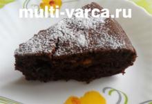 Постный шоколадный кекс в мультиварке