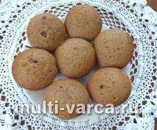 Медовые кексы с кофе в мультиварке