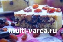 Кекс с шоколадной начинкой в мультиварке