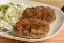 Вкусные домашние котлеты из говяжьего и свиного фарша в мультиварке Редмонд